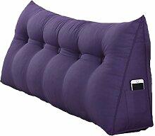 ZWL Bedside Triangle Kissen Dimensional Sofa Rückenlehne Solid Color schützen die Taille Kissen Büro Back Pad Lendenwirbel weichen Fall Taille Auflage Bett Stoff Kissen Core waschbar Taille Kissen Hals Kissen Fashion. z ( Farbe : #3 , größe : 120*50*20CM )