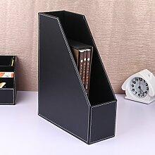 ZWL Büro auf dem Tisch Multifunktions-Multilayer-Datei Regal-Dateien Rack-Datei Bar-Box Storage Rack Fashion. z ( Farbe : Schwarz , größe : A )
