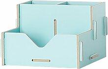 ZWL Büro-Schreibtisch-Aufbewahrungsbehälter-Büro-Versorgungsmaterialien Trümmer-Speicher-Regal-Regal-Behälter Fashion. z ( Farbe : Hellblau )
