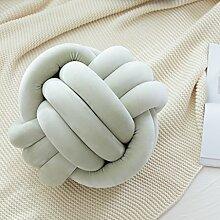 ZWL Chinesisches Knoten-Kissen-Haus-Kissen-Handkissen-Sofa-Kissen Raum-Dekoration-Bett-Kissen-Sofa-Dekoration-Geburtstags-Geschenk Fashion. z ( Farbe : Grün , größe : 40*40cm-A )