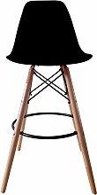ZWL Creative Bar Stuhl, Cold Drinks Bar Hocker Bar Stuhl Massivholz Einfache Freizeit Salverform Zurück Stahl Holz Kunststoff Lager Stabilität Haushalt Bar Commercial W55cmxH104cm Mode ( Farbe : C )