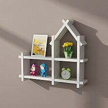 ZWL Creative House, Regal Einfache moderne Trend Wohnzimmer Schlafzimmer Club Holz Free Punch Trennwand Wand Rack Pine Bright Lack 60cm * 53cm Fashion. z ( Farbe : B )