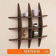 ZWL Creative Racks, kreative einfache Fashion Wohnzimmer TV Hintergrund Wand Rack Mauer Regal Wand Dekoration Regal 75 cm * 75 cm Fashion. z ( Farbe : B )