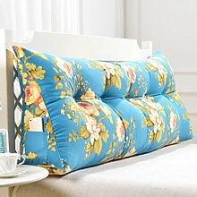 ZWL Double Bedside Dreieck Flower Kissen Sofa Kissen Rückenlehne waschbar weichen Fall Home Lendenwirbel Schlafzimmer Erwachsenen Back Pad Taille Kissen Wohnzimmer Bett Kissen Fashion. z ( Farbe : #4 , größe : 120CM )