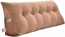 ZWL Double Dreieck Nachttisch Sofa Kissen Dimension Rückenlehne Solid Color Schützen Sie die Taille Kissen Büro Back Pad Lendenwirbel Weiche Fall Taille Auflage Bett Stoff Kissen Core Washable Taille Kissen Neck Pillow Fashion. z ( Farbe : #2 , größe : 100CM )