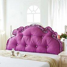 ZWL Double Kissen Große Rückenlehne Lange Kissen können gewaschen und gewaschen Kissen Home Bedside Bett Kissen Fashion. z ( Farbe : E , größe : 1.5M )