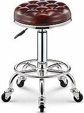 ZWL Drehbare runde Hocker Bar Stuhl Lifting Bar Hocker, High Hocker Schönheit Hocker Bar Stuhl Coffee Shop Friseur sitzen Hocker Schönheit Stuhl Mobile Store Business Counter Stuhl 47-59cm Mode ( Farbe : #4 )