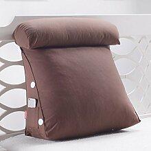 ZWL Dreieck Bedside Kissen Büro Lendenwirbelsäule Rücken Pad Bett Schlafzimmer schützen die Hals Kissen Wohnzimmer Sofa Kissen Rückenlehne Taille Kissen Fashion. z ( Farbe : #3 , größe : 60 )