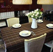 ZWL Gitter Tischdecke Stoff Einfache Tischdecke