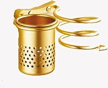 ZWL Haartrockner Rack-Badezimmer mit Gold Badezimmer Set Comb Shelf Haartrockner Einhängegestell Fashion. z ( Farbe : Gold )