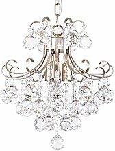 ZWL Kristall Kronleuchter, Kreativ Champagner Gold K9 Level Kristall Dekoration Kronleuchter Wohnzimmer Schlafzimmer Restaurant Bügeleisen Hochzeit Zimmer Dekoration Kronleuchter 3-6 Kopf E14 Hängekette 40cm Verstellbar mode. ( größe : 35*40CM )