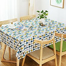 ZWL Ländliches Tischtuch Leinen Tuch Rectangle