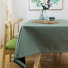 ZWL Leinen Plain Table Tuch Rechteck Einfache