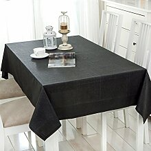 ZWL Leinen Tuch Tischdecke Solid Color
