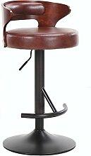 ZWL Massivholz Barhocker, kreative Home Lift Hocker Bar Stuhl Bar Stuhl Kassierer Hocker Hochstuhl Rezeption Sessel Restaurant Heben und Senken Stühle Hebe Höhe 63-83cm Mode ( Farbe : C )