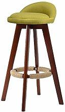 ZWL Massivholz Der Bar Stuhl, Hochhocker Hochstuhl Bar Stuhl Empfang Stuhl Haushalt Stuhl Hohe Hocker Retro Einfach Bar Barhocker 73cm Mode ( Farbe : #5 )