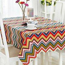 ZWL Moderne Einfache Tischdecke Geometrie Tisch