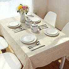 ZWL Modernes einfaches Leinen Tischtuch Khaki