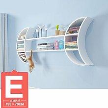 ZWL Moon Wall Mount, Creative Study Schlafzimmer auf der Wand Regal Wohnzimmer TV Kulisse Trennwand Woody Gitter Wandregale Kindergarten Klassenzimmer Bücherregal (nicht mit anderen Zubehör) Fashion. z ( größe : E )