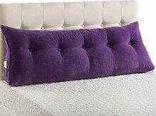 ZWL Nachttisch Sofa Kissen Lendenwirbel Kissen Soft Case Rückenlehne Bett Kissen Stoff Schlafzimmer Kissen Core Waschbar Taille Kissen Taille Pad schützen den Hals Fashion. z ( Farbe : #4 , größe : 120*22*50CM )