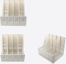 ZWL Office-Datei Shelf 4 Spalten Speicher Rack-Dateien Rack-Datei Bar-Datei Korb Regal Fashion. z ( Farbe : Weiß )