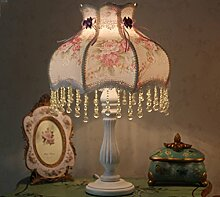 ZWL Pastoral Stoff Harz Schlafzimmer Bedside-Dekoration-Lampe Hochzeitszimmer New Hochzeit Hochzeit Geschenke Fashion.z ( Farbe : Weiß )