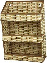 ZWL Regal Haushalt Oxford Stoff Aufbewahrungstasche Hängetaschen Student Dormitory Wandhalterungen Debris Frame Lagerung Rack Hanging Basket Fashion. z ( Farbe : A )