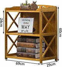 ZWL Regal, Kreatives Modernes einfaches Wohnzimmer Restaurant Student Landing Bücherregal Cross Design Solid Ein Mehrzweck 42/52/62 / 69cm * 29cm * 60cm Fashion. z ( größe : 69cm )