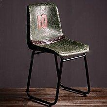 ZWL Retro Bar Stuhl, Creative Loft Lounge Stuhl Esszimmer Stuhl Do Old Iron Kaffee Stuhl 50 * 44 * 85cm Mode ( Farbe : B )