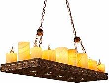 ZWL Retro Kerzenständer Kronleuchter, Loft Restaurant Industrielle Winde Bar Bar Cafe Dekoration Studio Kronleuchter 16 Kopf E14, 120 * 100cm mode. ( größe : 120*100cm )