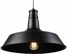 ZWL Retro Kronleuchter, Restaurant Dekoration Lager Lampen Und Laternen Büro Beleuchtung Kreatives Eisen LOFT E27 einzigen Kopf 26-46CM einstellbare 90cm Sling Engineering Lights mode. ( Farbe : #2 , größe : 26*23CM )