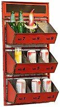 ZWL Retro Lagerung Rack, Wanddekoration Rahmen Wandhalterung Kreativ Display Stand Bar Restaurant Industrial Wind Retro Nostalgie 38,5 * 17 * 76cm Fashion. z ( größe : 38.5*17*76cm )