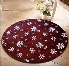 ZWL Rund Teppich Computer Stuhl Drehstuhl Hocker Korb Korb Nacht Beleg Waschen Teppich Speicher-Rack. z ( Farbe : D , größe : 120CM )
