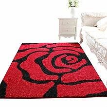 ZWL Rutschfeste Wohnzimmer Teppich, Kaffeematten Study Schlafzimmer Nachttischdecke Fußauflage Türmatten Sofa Teppich Dicker Geometrie Übergroß Speicher-Rack. z ( Farbe : #1 , größe : 100*150CM )