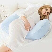 ZWL Schwangere Frauen Kissen U Typ Multifunktions schützen die Taille Seite Kissen Seite Schlaf Pflege des Abdomen Kissen Taille Kissen Kissen Schlaf Kissen Bett Lieferungen Fashion. z ( Farbe : D )