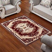 ZWL Teppich Wohnzimmer Couchtisch Schlafzimmer Bettvorleger Blending American Garden Home Klassisch-Shop Speicher-Rack. z ( Farbe : C , größe : 82*122CM )