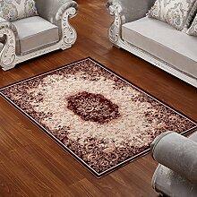 ZWL Teppich Wohnzimmer Couchtisch Schlafzimmer Bettvorleger Blending American Garden Home Klassisch-Shop Speicher-Rack. z ( Farbe : F , größe : 71*141CM )