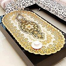 ZWL Tischdecke Bronzing Hot Silver Tischtuch