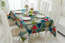ZWL Tischdecke Farbe Verdickung Baumwolle Leinwand