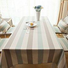 ZWL Tischdecke Streifen Tischdecke Einfache