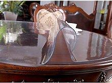 ZWL Tischdecke Weichglas Rundtisch Transparent