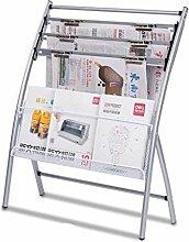 ZWL Zeitung Stand Studie Wohnzimmer Zeitung Ordner Zeitschrift Display Stand Lagerung Regal Regal Fashion. z ( Farbe : A )