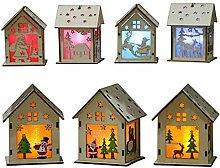 ZWYK Weihnachten Dekorationen GlüHende Chalet