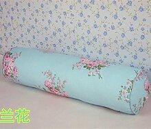 ZWYZXY Baumwolle lange Kissen große zylindrische Bett schlafen Lenden Kissen Kissen Freund candy Kissen, 20 x 120 cm, Orchidee demontieren