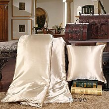 ZWYZXY Dick viskose Satin Ice silk quilt Kissen Kissen mit zwei Mittagessen decken sofa Kissen Kissen, 50*50, automotive Taille Gletscher silber