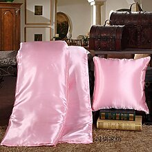 ZWYZXY Dick Viskose Satin Ice Silk Quilt Kissen Kissen mit Zwei Mittagessen Decken Sofa Kissen Kissen, 50*50, Automotive Taille Eis Oder Toner