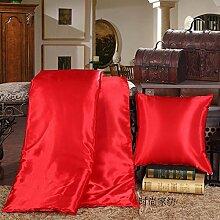 ZWYZXY Dick viskose Satin Ice silk quilt Kissen Kissen mit zwei Mittagessen decken sofa Kissen Kissen, 40 X 40, automotive Taille blendend Ro