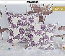 ZWYZXY Neue Artikel Sitzkissen Chinesische 3D Kissen Sofakissen Plüsch Bett auf das Paket auto Lendenwirbelstütze Kissen, 40 x 40 cm, Lendenwirbelstütze (violett)