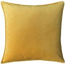 ZWYZXY Reine Farbe velvet velvet Kissen Kissen Kissen Sofakissen großes Bett Kissen zurück Pad (35, 50 X 50)