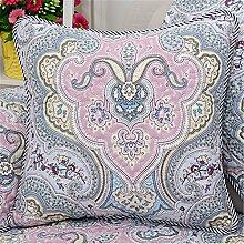 ZWYZXY Sofa Kissen kit reine Baumwolle kunst Kissen chip-Kissen Kissen continental Bett auf Sie Kit, 55x55cm, Lai Na einstellen